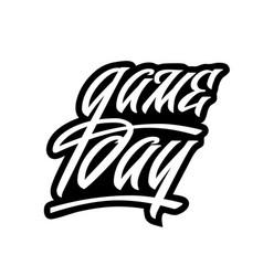 engraved hand lettering logo for sport fans vector image