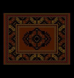 Ethnic luxury carpet with vintage ornament vector