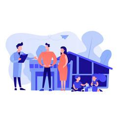 Family doctor concept vector