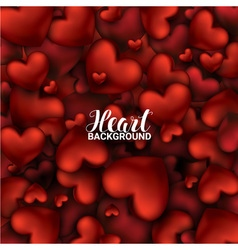February 14 love romantic 3d realistic red hearts vector
