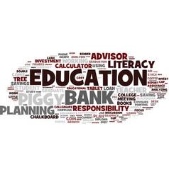Financial education word cloud concept vector