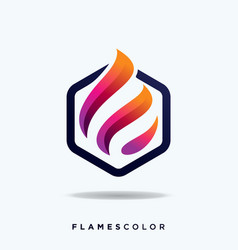 flame logo and icon design tem vector image