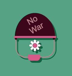 Flat icon design collection no war military vector