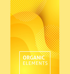 fluid yellow banner text vector image