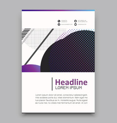 Geometric background template for covers flyers vector