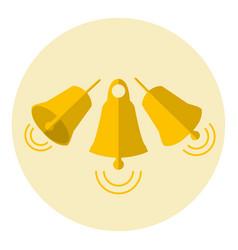 Golden jingle bells vector
