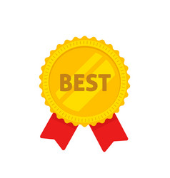 golden medal with best text vector image