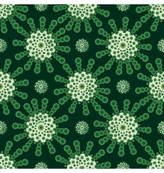 Green flowers abstract vintage background vector