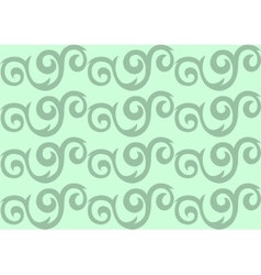 Green ornate seamless pattern vector image