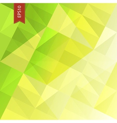 green triangles abstract background eps10 vector image