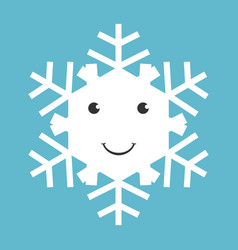 happy snowflake character vector image