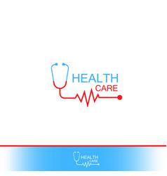 Health care icon logo tonometer with heart vector
