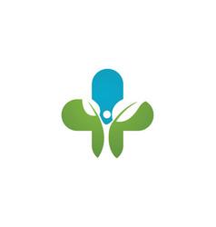 Health medical logo template design vector