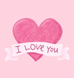 hearts i love you pink vector image