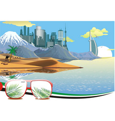 Landscape - arab coast vector