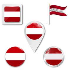 Latvia flag banner vector
