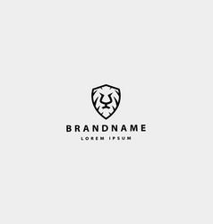 Lion shield logo icon design vector