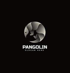 Logo pangolin gradient colorful style vector