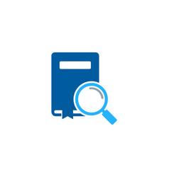 looking book logo icon design vector image