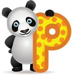 Panda cartoon vector