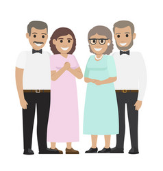 Parents-in-law flat vector