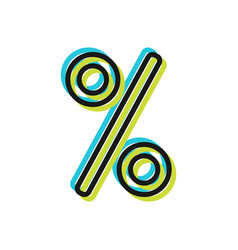 Percentage discount or sale flat icon object vector