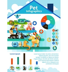 Pet Infographics Set vector image