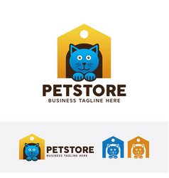 pet store logo vector image