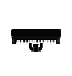 piano instrument with man icon vector image