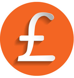 pound icon paper style vector image