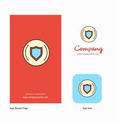 Protected sheild company logo app icon and splash vector