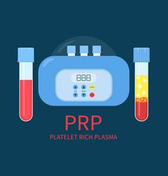 prp laboratory equipment kit vector image