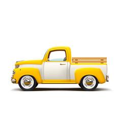 Retro two color pickup vector