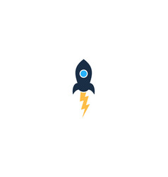 rocket power logo icon design vector image