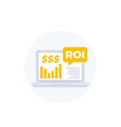 Roi return on investment finance concept vector