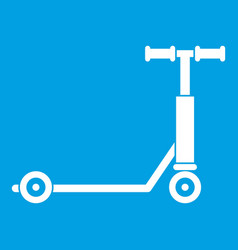 Scooter icon white vector
