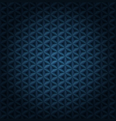 seamless volumetric dark blue pattern vector image