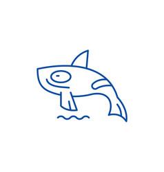 shark killer whale line icon concept shark killer vector image
