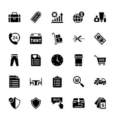 Shopping and commerce icon pack vector