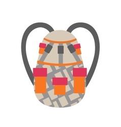 Snowboard sport bag design element vector