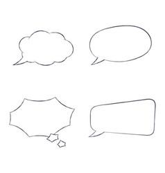 speech bubbles hand drawn sketch vector image