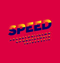 Speed style sport font vector