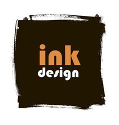Spot ink grunge square banner vector