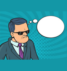 thinking businessman questions vector image