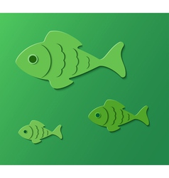 Three fishes vector
