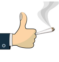 Thumb up for cannabis vector