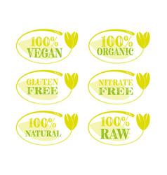 vegan icon set vector image