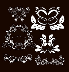 Vintage frames and scroll elements5 vector