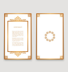 Vintage frames with gold border pattern vector