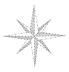 wind rose compass from abstract futuristic vector image